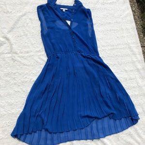 3/$20 Royal Blue sheer American Eagle shirt dress